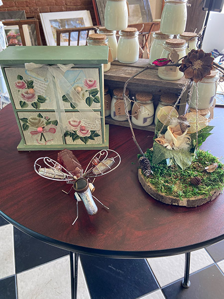 Chestnuts and Pearls - display table